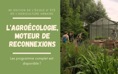 Participez à l'Ecole d'Eté d'Agriculture Urbaine et de l'Alimentation Durable de Bruxelles